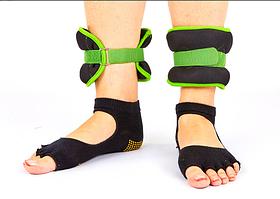 Обтяжувачі-манжети для рук і ніг FI-7208-2 (2 x 1кг) зелений (неопрен, метал.кульки, кольори в асортименті)