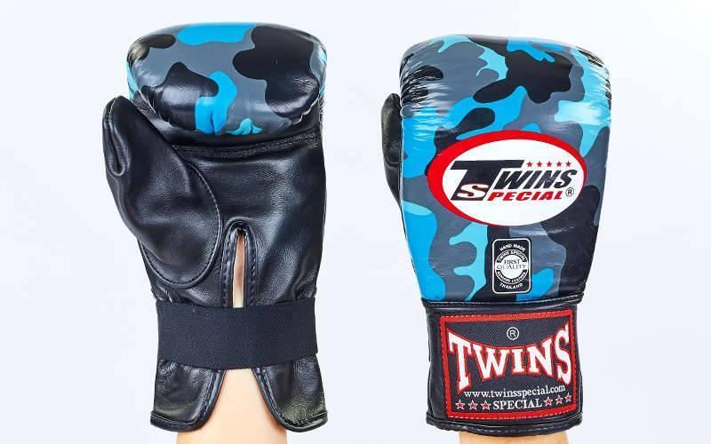 Снарядные перчатки кожаные TWINS FTBGL-1F-NB-L