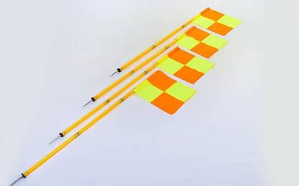 Флаги угловые складные С-4585 (металл, пластик, l-1,63м, в комплекте 4шт), фото 2
