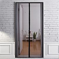 Москитная сетка на дверь на магнитах 100х210 см Magic Mesh / Антимоскитная сетка