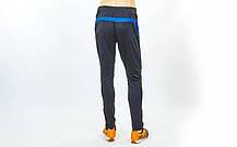 Штаны футболиста F50 LD-9101-B (полиэстер, р-р L-3XL, рост 160-185, черный-синий), фото 3
