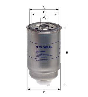 HENGST ФИЛЬТР ТОПЛИВА Case JCB Komatsu New Holland (10 Micron) /WT/