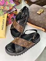Круті сандалі LV PASEO (репліка), фото 1