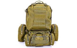 Рюкзак тактический рейдовый SILVER KNIGHT 55 литров TY-213 (нейлон, оксфорд 900D, размер 50х34х15см)