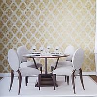 Шпалери флізелінові еко Galerie Metallic FX 0,53Х10 англійські геометрія фігури золотом структурних на бежевому