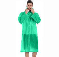 Дождевик, плащ от дождя зеленый, мужской, размер 120х55х67 см( C-1030 OF)