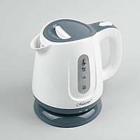 Электрический чайник 1,0 л Maestro, термостойкий пластик, цвет белый с серыми вставками (MR-013-GREY)