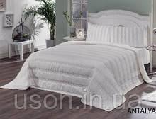 Бамбукове покривало на ліжко 240*260 з наволочками le vele Antalya