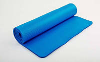 Коврик для фитнеса, каремат NBR 10мм с фиксирующей резинкой (FI-3357)