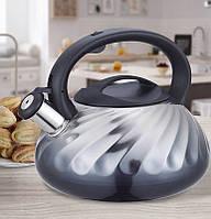 Чайник Maestro, металлический, объем 3,0л, цвет - серый (MR-1321-Grey)