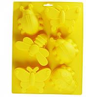"""Форма Maestro """"Бджілки"""", для випічки кексів, матеріал - силікон,розмір: 21х34 см, MR-1054"""