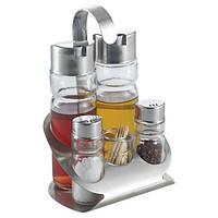 Набор для специй Maestro Basic:соль+ перец+масло+уксус и зубочистки на подставке, MR-1611 D