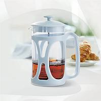Заварник для кофе/чая 600мл, высококачественный пластик, цвета голубой и зеленый (MR-1663-600)