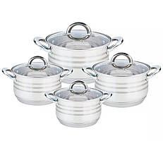 Посуда Maestro Basic, в наборе 8 предметов, цвет серебро, материал - нержавеющая сталь MR-3513-8
