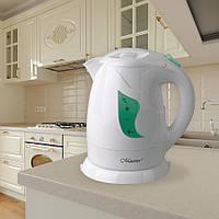 Электрический чайник 1,0 л Maestro, термостойкий пластик, цвет белый (MR-011)
