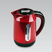 Электрический чайник 1,7 л Maestro, термостойкий пластик, цвета красный и белый ( MR-041)