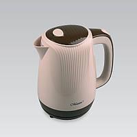 Электрический чайник 1,7 л Maestro, термостойкий пластик, цвета коричневый и белый (MR-042)