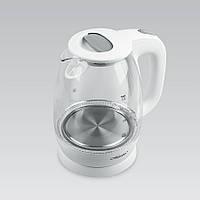 Электрический чайник 1,7 л Maestro, термостойкое стекло, цвета черный и белый (MR-063)