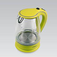 Электрический чайник 1,7 л Maestro, термостойкое стекло, цвета зеленый и оранжевый (MR-064)