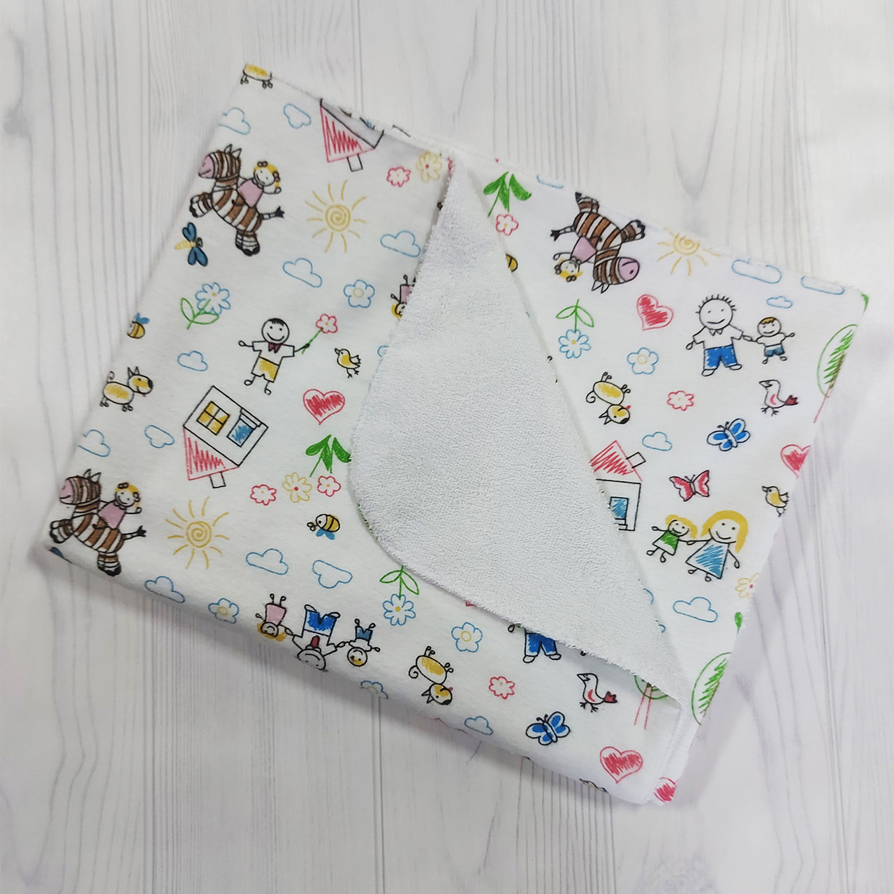 Многоразовая непромокаемая пеленка 75*90 Luna style