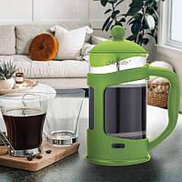 Френч - пресс для кофе/чая 1000мл,боросиликатное стекло, цвета фиолетовый, синий, черный (MR-1665-1000)