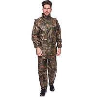Дождевик костюм камуфляж лес 118-1, 3xl (52-54), материал - нейлон(118-1-(forest))