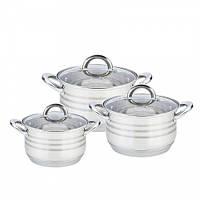 Посуда Maestro Basic, в наборе 6 предметов, цвет серебро, материал - нержавеющая сталь mr-35136L