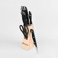 Набор ножей на деревянной подставке из 8 предметов maestro Basic, цвет черный (MR-1402)