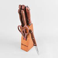 Набор ножей на деревянной подставке из 8 предметов maestro Basic, цвет коричневый (MR-1403)