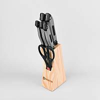 Набор ножей на деревянной подставке из 7 предметов maestro Basic, цвет коричневый (MR-1407)