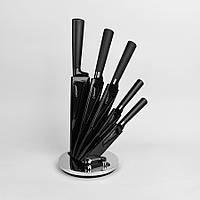 Набор (6пр.) ножей из высококачественной нержавеющей cтали Maestro, цвет черный (MR-1413)