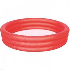 Надувной круглый бассейн Bestway 51027 Red