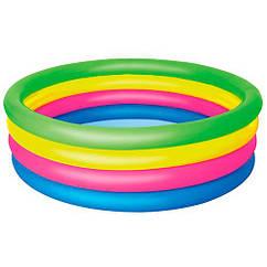 Бассейн BestWay 51117 детский, надувной, круглый, 157-46 см, 4 кольца в коробке