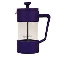 Френч-пресс на 350мл, цвета фиолетовый, синий, черный (MR-1659-350)