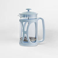 Френч-пресс для кофе/чая на 1000мл, высококачественный пластик, цвета голубой и зеленый (MR-1663-1000)