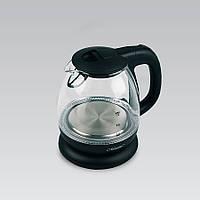 Электрический чайник 1 л Maestro корпус из термостойкого стекла, цвет черный и белый (MR-055)