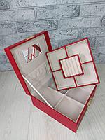 Скринька з подвійним дном для прикрас і дзеркалом №12