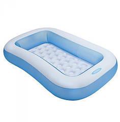 Надувной бассейн детский Intex 57403 прямоугольный 166 х 100 х 28 см Бело-голубой (tsi_23367)