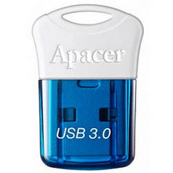 Флеш пам'ять 64GB USB3.0 Apacer AH157 Blue AP64GAH157U-1