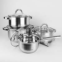 Набор посуды Maestro, в комплекте 9 предметов, материал - нержавеющая сталь, MR-2021