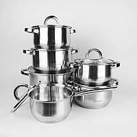 Набор посуды Maestro, в комплекте 12 предметов, материал - нержавеющая сталь, MR-2120