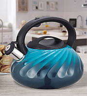 Чайник Maestro, металлический, объем 3,0л, цвет - голубой (MR-1321-Blue)