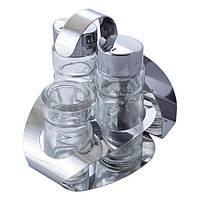 Набор для специй Maestro Basic: соль+перец+салфетки+зубочистки на подставке, MR-1611 C