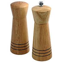 Набор соль-перец пирамида деревянный Maestro, диаметр 5,5см, материал - дерево, MR-1615