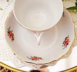 Антикварная фарфоровая чайная тройка, чашка, блюдце и тарелка, Oscar Schaller & Co, Германия, фарфор, фото 8