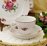 Антикварная фарфоровая чайная тройка, чашка, блюдце и тарелка, Oscar Schaller & Co, Германия, фарфор, фото 5