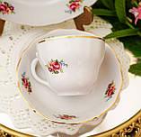 Антикварная фарфоровая чайная тройка, чашка, блюдце и тарелка, Oscar Schaller & Co, Германия, фарфор, фото 7