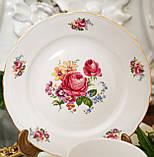 Антикварная фарфоровая чайная тройка, чашка, блюдце и тарелка, Oscar Schaller & Co, Германия, фарфор, фото 2