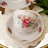 Антикварная фарфоровая чайная тройка, чашка, блюдце и тарелка, Oscar Schaller & Co, Германия, фарфор, фото 3