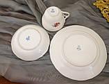 Антикварні порцеляновий чайна трійка, чашка, блюдце й тарілка, Oscar Schaller & Co, Німеччина, фарфор, фото 10